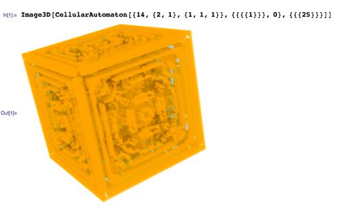 3D cellular automata